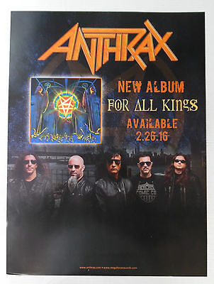 "Anthrax - For All Kings * Large Promo Poster 18"" x 24"""