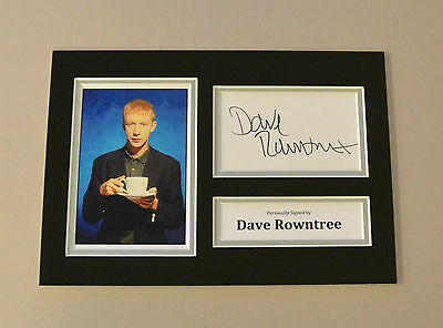 Dave Rowntree Signed A4 Photo Genuine Blur Autograph Display Memorabilia + COA