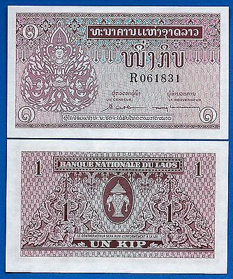 Laos P-8 One (1) Kip Year ND 1962 Uncirculated FREE SHIPPING