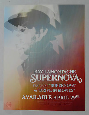 Ray Lamontagne - Supernova * Vinyl Window Cling Promo Poster Sticker 8.5x11