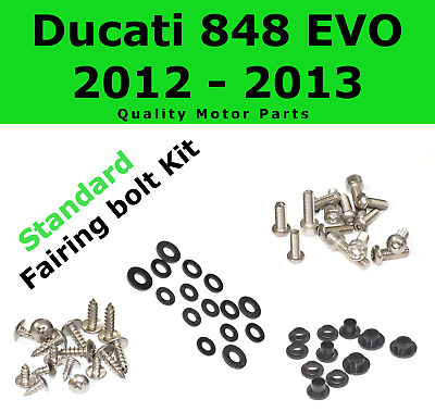 Fairing Bolt Kit body screws fastener for Ducati 848 EVO 2012 - 2013 Stainless