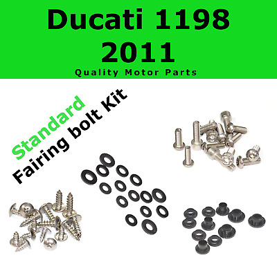 Fairing Bolt Kit body screws fasteners for Ducati 1198 2011 Stainless 848 EVO