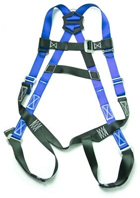 Fall Protection 5-point Adjustable Safety Harness w/ Pass Through Legs