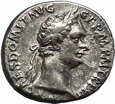 DOMITIAN son of Vespasian 90AD Silver  Ancient Roman Coin Minerva Cult   i46565