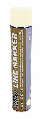 750ml White Line Marking Spray Paint Surveyor Road Marker Fast Drying