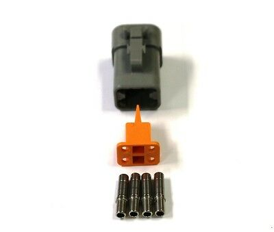 Deutsch DTP 4 Pin Female Connector Kit 12 GA Solid Contacts