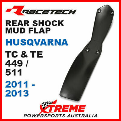 Rtech Black Husqvarna TE449 2011-2013 Rear Shock Guard Mud Flap Plate R-PSPHSQNR