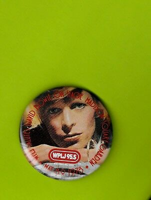 David Bowie 1978 tour WPLJ badge pinback button perfection...not a scratch