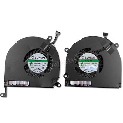 "CPU Cooling Fan Left and Right Side For Macbook Pro A1286 15"" 2009 2010 2011 US"