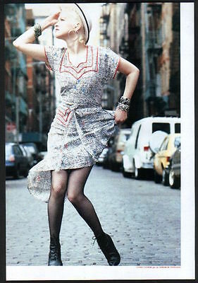 1988 Cyndi Lauper street JAPAN mag photo pinup mini poster vintage clipping l11r