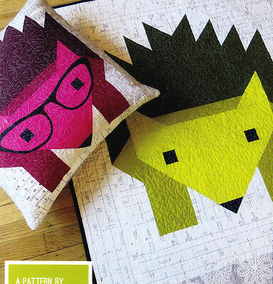Hazel Hedgehog 2 - fun modern pieced quilt PATTERN - 4 sizes - Elizabeth Hartman