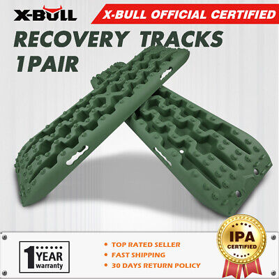 X-BULL Recovery Tracks Caravan Sand Mud Snow 4WD ATV Off Road 1Pair  Olive-green