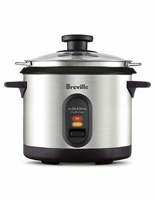 NEW Breville The Set and Serve Rice Cooker BRC310 Grey
