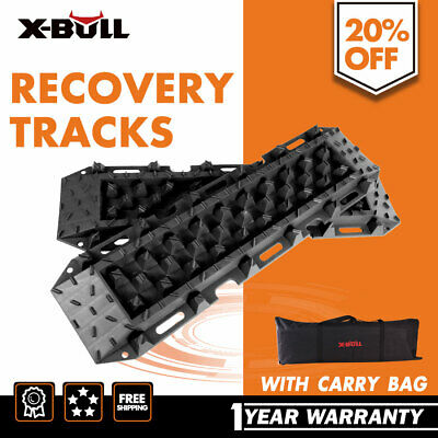 Pair  Recovery Track Sand Tracks Tyre Ladder  Sand Mud Snow BLACK X-BULL