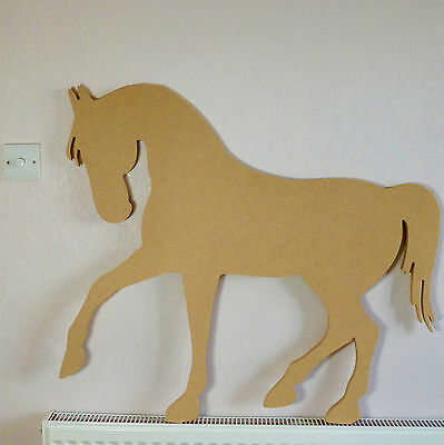 Large Horse Shape Wooden MDF 775mm High Equestrian