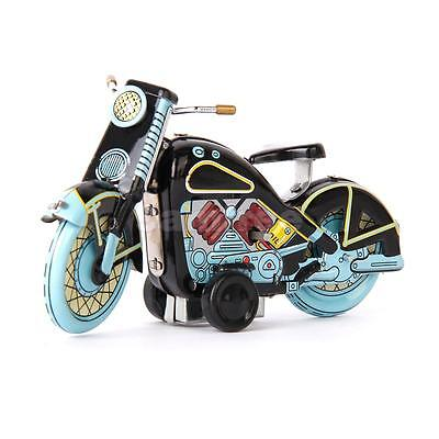 VINTAGE Wind Up Motorcycle Motor Bike Clockwork TIN Toy Reproduction Collectible