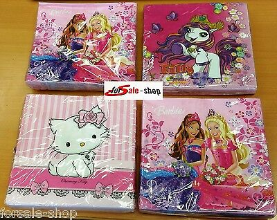 Kinder Party Tisch Deko Servietten Filly Barbie Charmmy Kitty