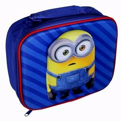 Minions Premium Lunch Bag Insulated / School/travel : Wh3# : 020 : Brand New
