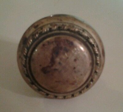 Antique Victorian Brass Doorknob Eastlake Ornate Door Hardware Knob #15