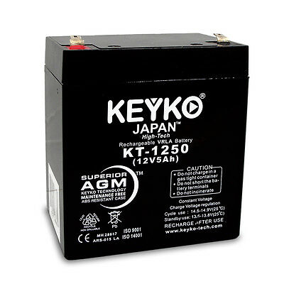 12V 5Ah SLA Sealed Lead Acid Replacement rechargeable Battery KEYKO ® AGM(F1)