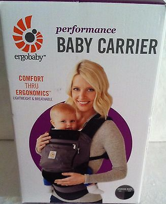 Ergobaby Performance Baby Carrier Charcoal Black Lightweight New In Box