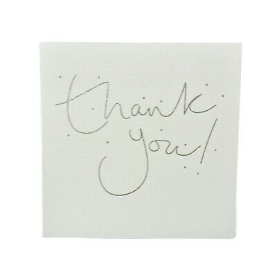 Pack of 16 Glitter Finished Thank You Cards Christmas Wedding Party New