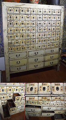 Antico Mobile Da Farmacia Cinese Old Chinese Pharmacy Cabinet Original