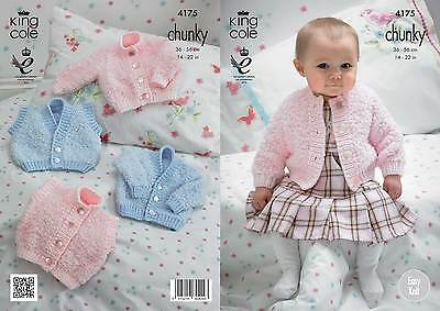 King Cole 4175 Knitting Pattern Cardigans & Waistcoats in Cuddles Chunky