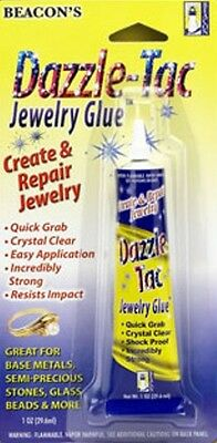 Beacon 1oz /29ml DAZZLE TAC Adhesive Glue for Base Metals, Crystals, Beads etc