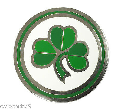 40Mm Large Irish Shamrock Golf Ball Marker. National Flag. By Asbri