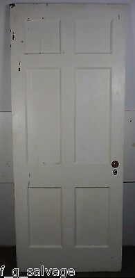 "Antique Vintage 6 Panel Interior Door 33-3/4"" X 81"" (B6)"