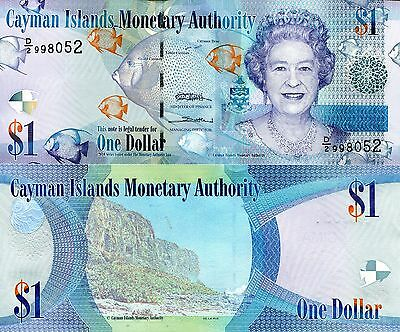 CAYMAN ISLANDS 1 Dollar Banknote World Money Currency Note p38b Queen Elizabeth