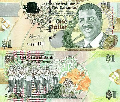 BAHAMAS 1 Dollar Banknote World Money Currency Note Caribbean BILL pNEW 2015