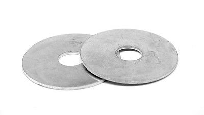 """1/8"""" x 1"""" Fender Washer Low Carbon Steel Zinc Plated Pk 100"""