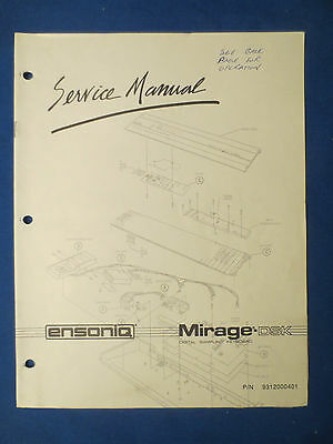 Ensoniq Mirage - Dsk Service Manual Factory Original Factory Issue