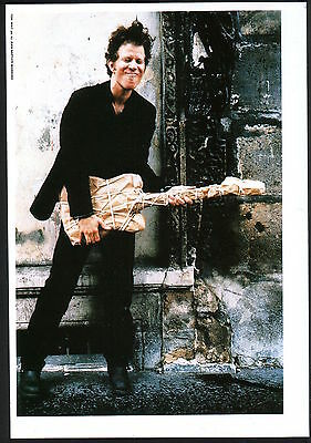 1993 Tom Waits w/ wrapped guitar JAPAN mag photo pinup / mini poster t012r