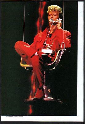 1997 David Bowie red suit Glass Spider Tour JAPAN mag photo pinup / b09r