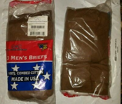 USGI US MILITARY SURPLUS MEN'S BRIEFS (drawers) size 34  3 pack unopened package