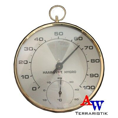 Thermometer & Hygrometer - analog - goldfarben - Haar-Synthetic Hygrometer