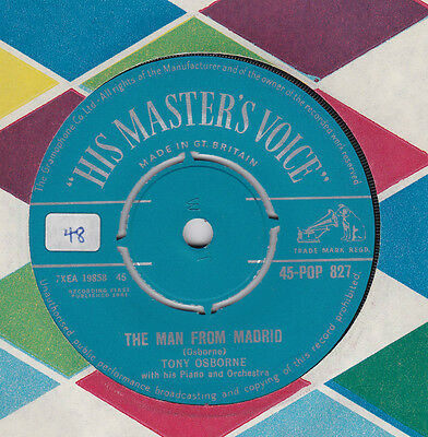 "Tony Osborne # The Man From Madrid # 7"" Vinyl Single"