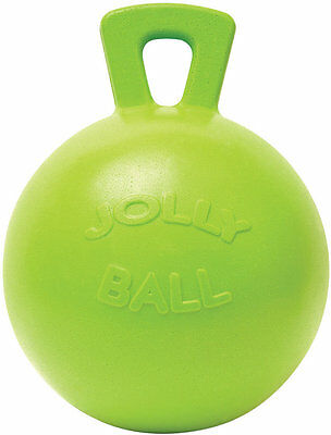 """Horseman's Pride 10"""" Apple Scented Jolly Ball Tug Toss Toy"""