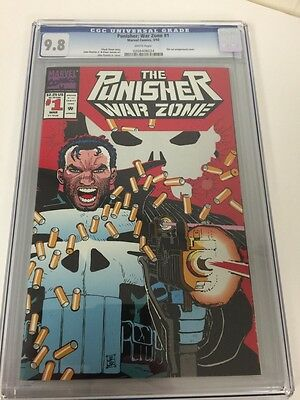 Punisher War Zone 1 Cgc 9.8 White Pages Die Cut Cover