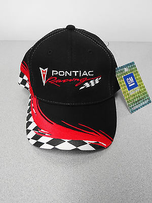 Gm Licensed Pontiac Racing Black/red Checkered Hat
