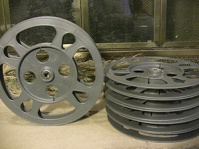 SIX- 600ft 16mm Plastic Film REELS - NEW