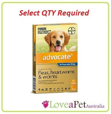 Advocate Flea and Worm/Heartworm Treatment For Dogs Over 25kg