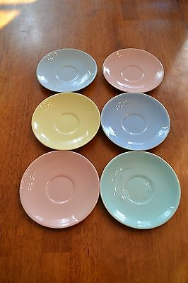 Lot of 6 VINTAGE TS&T LU-RAY PASTELS Saucers LuRay 6""