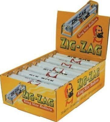 Zig Zag Rolling Machine King Size Box Of 12 Rollers