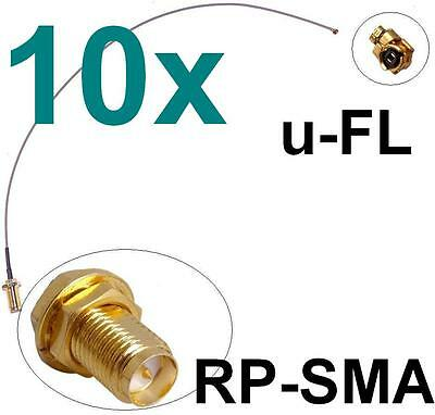 10x Antennen Adapter Kabel RP-SMA u-FL Wlan Stück Speedport Fritz!Box Pigtail
