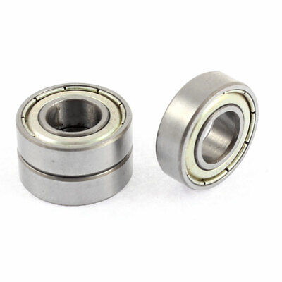 Metal Deep Groove Guide Pulley Rail Ball Bearing Wheel Silver Tone 3Pcs
