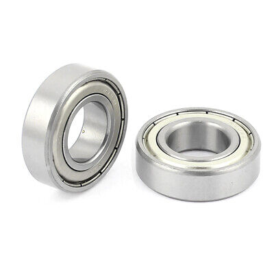 6003Z 17x35x10mm Sealed Double Shielded Deep Groove Ball Bearing 2Pcs